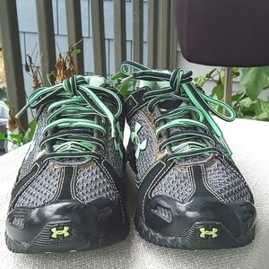 Under Armour Black and Green Sneakers